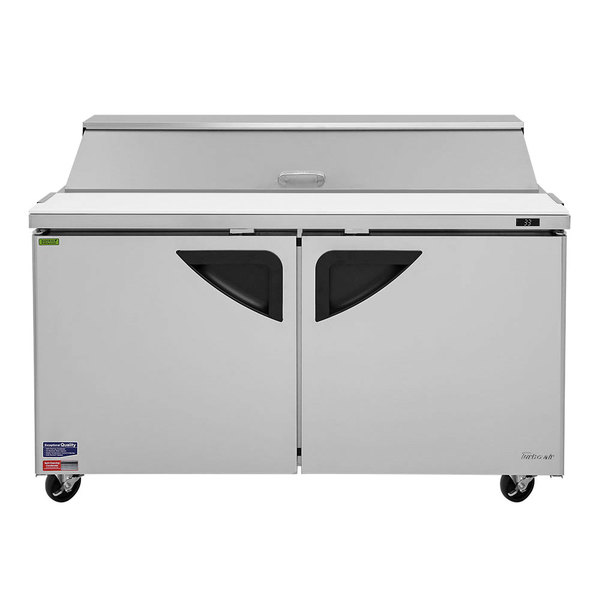 "Turbo Air TST-60SD 60"" 2 Door Refrigerated Sandwich Prep Table"