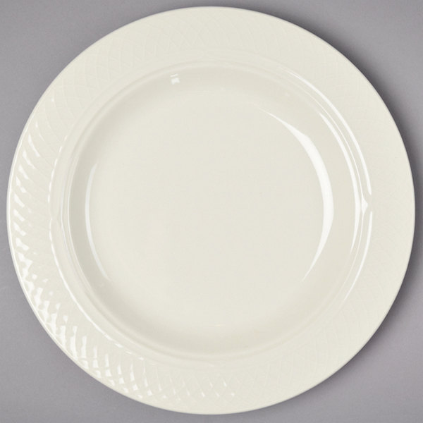 Homer Laughlin 3437000 Gothic 13 oz. Ivory (American White) Undecorated China Pasta Bowl - 12/Case