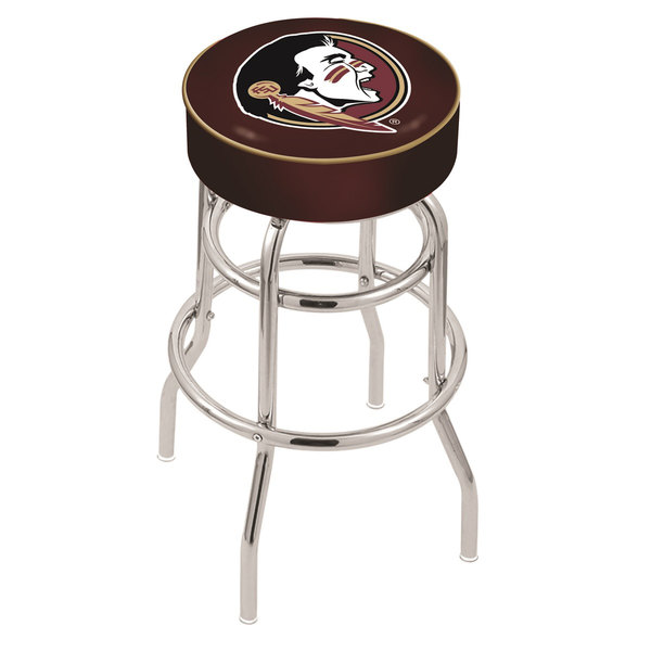 "Holland Bar Stool L7C130FSU-HD Florida State Double Ring Swivel Bar Stool with 4"" Padded Seat"