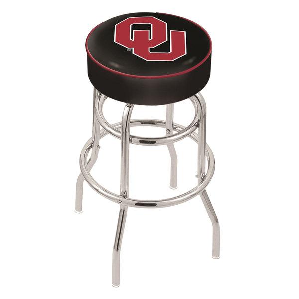 "Holland Bar Stool L7C130Oklhma Oklahoma University Double Ring Swivel Bar Stool with 4"" Padded Seat Main Image 1"