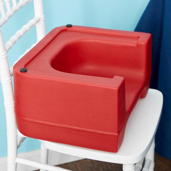 Carlisle 711005 Red Plastic Booster Seat - Dual Seat