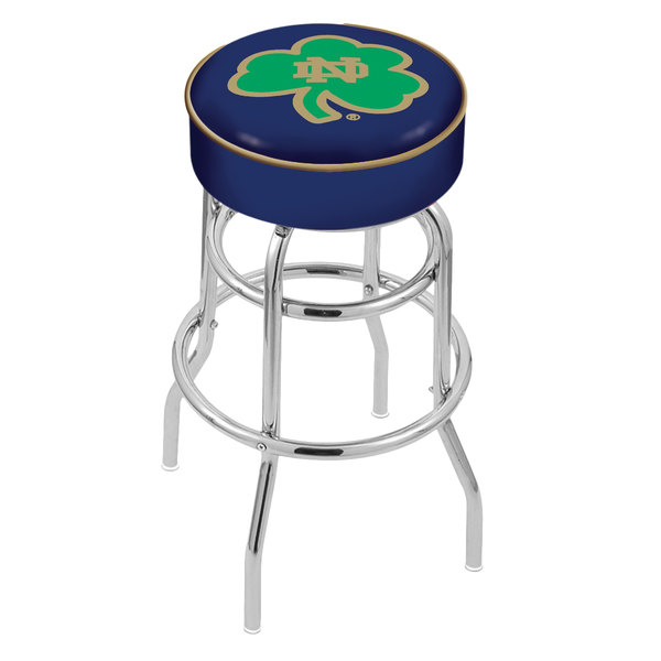 """Holland Bar Stool L7C130ND-Shm Notre Dame Double Ring Swivel Bar Stool with 4"""" Padded Seat Main Image 1"""