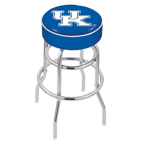"Holland Bar Stool L7C130UKY-UK University of Kentucky Double Ring Swivel Bar Stool with 4"" Padded Seat Main Image 1"