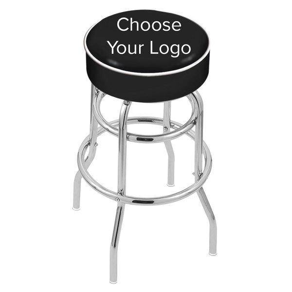 "Holland Bar Stool NHL Logo Double Ring Swivel Bar Stool with 4"" Padded Seat"