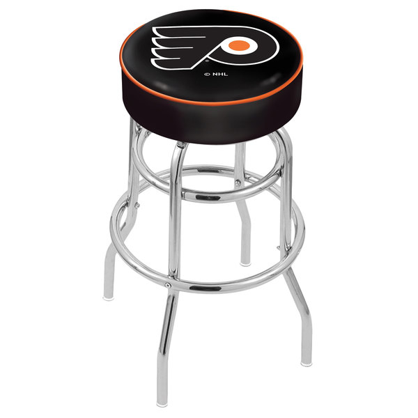 "Holland Bar Stool L7C130PhiFly-B Philadelphia Flyers Double Ring Swivel Bar Stool with 4"" Padded Seat"