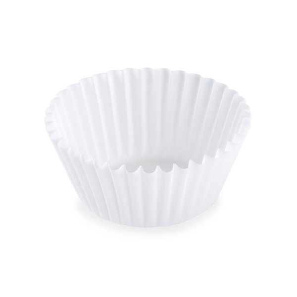 White Fluted Baking Cup 1 1/2 inch x 1 inch - 10000/Case