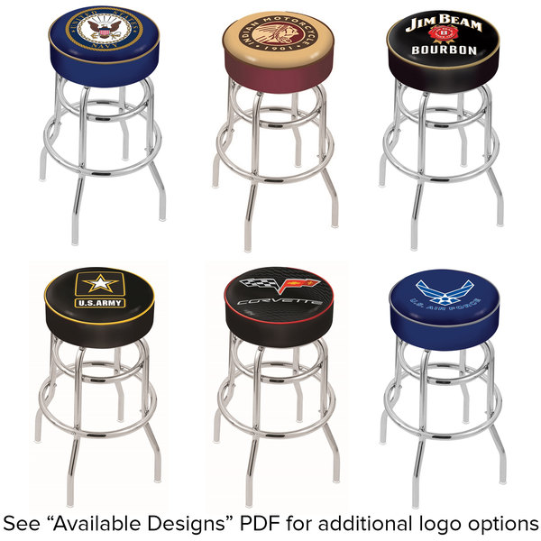 Fine Holland Bar Stool Logo Double Ring Swivel Bar Stool With 4 Padded Seat Bralicious Painted Fabric Chair Ideas Braliciousco