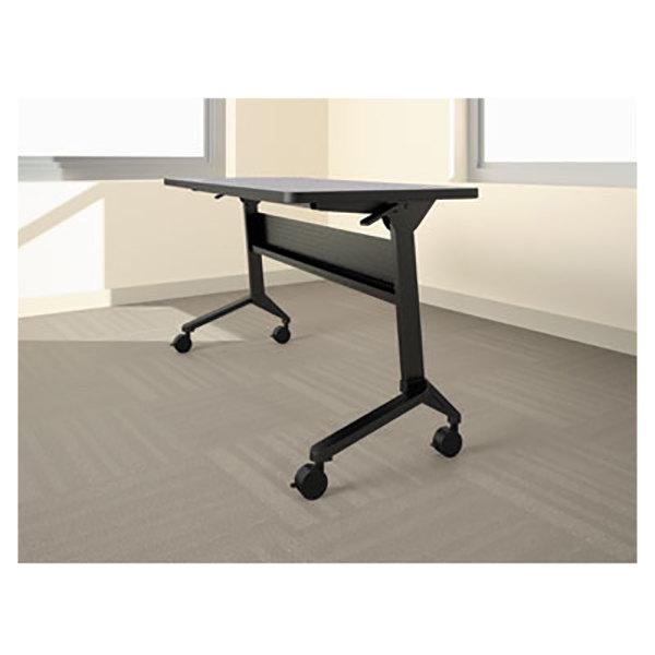 "Mayline LF72S5 Flip-n-Go 21 1/4"" x 70 1/2"" Black Steel Folding Seminar Table Base"