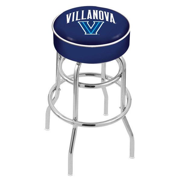 "Holland Bar Stool L7C130Vilnva Villanova University Double Ring Swivel Bar Stool with 4"" Padded Seat"