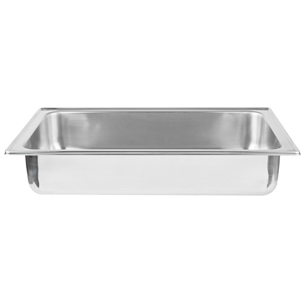 Vollrath 49331 Replacement Stainless Steel Water Pan for 9 Qt. Full-Size Panacea and Maximillian Steel Chafers Main Image 1