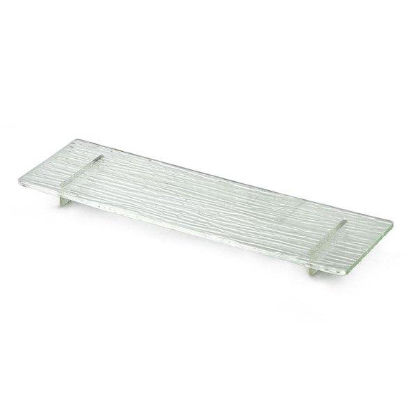 "Tablecraft ARL1 Cristal 16"" Rectangle Acrylic Riser with Straight Legs"
