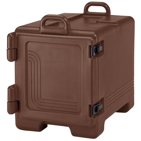 Cambro 1318CC131 Combo Carrier Dark Brown Front Loading Insulated Tray / Sheet Pan and Food Pan Carrier