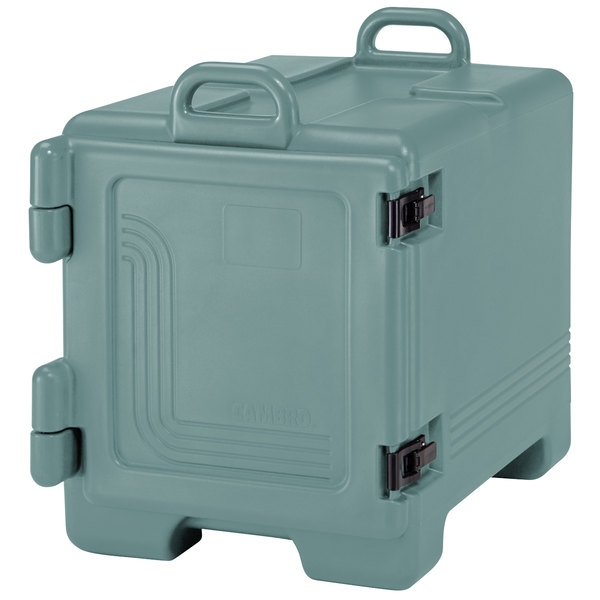 Cambro 1318CC401 Combo Carrier Slate Blue Insulated Front Loading Tray / Sheet Pan and Food Pan Carrier