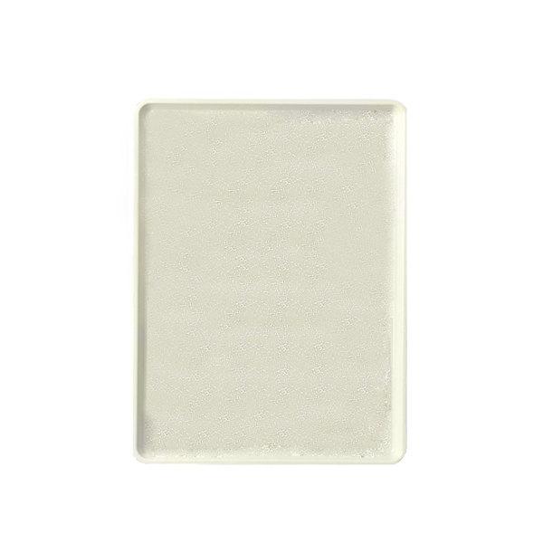 "Cambro 1222D531 12"" x 22"" Galaxy Antique Parchment Silver Dietary Tray - 12/Case"