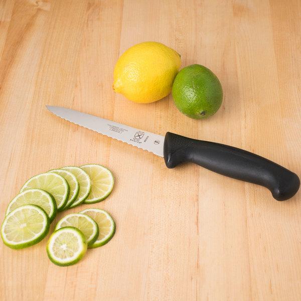"Mercer Culinary M23406 Millennia® 6"" Serrated Edge Utility Knife Main Image 3"