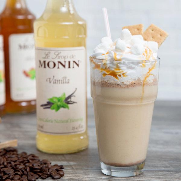 Monin 750 mL Zero Calorie Natural Vanilla Flavoring Syrup Main Image 3