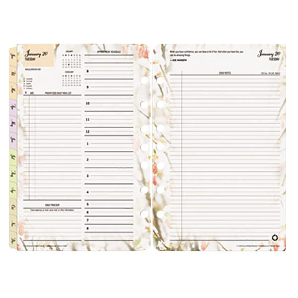 franklin covey 3544 blooms 5 1 2 x 8 1 2 dated daily 2019 planner