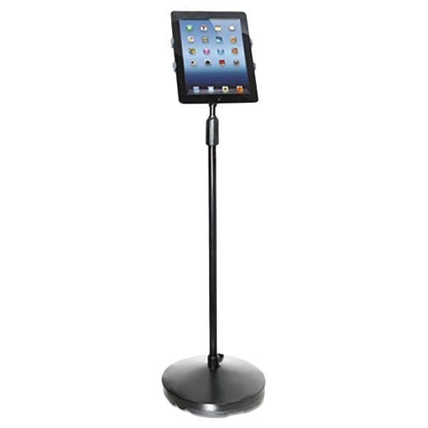 Kantek TS890 Black Adjustable Tablet Floor Stand