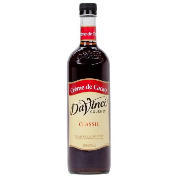 DaVinci Gourmet 750 mL Creme de Cacao Classic Coffee Flavoring Syrup