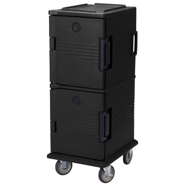 Cambro UPC800SP110 Black Camcart Ultra Pan Carrier - Front Load Tamper Resistant