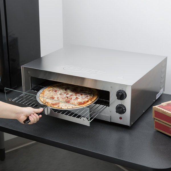 Avantco CPO16TSGL Stainless Steel Countertop Pizza / Snack Oven with Adjustable Thermostatic Control and Glass Door - 120V, 1700W Main Image 5