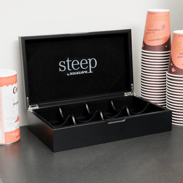 Steep by Bigelow 8 Compartment Organic Teas Black Tea Chest