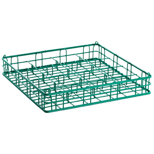 """9 Compartment Catering Glassware Basket - 4 3/4"""" x 4 3/4"""" Compartments"""