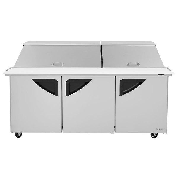 "Turbo Air TST-72SD-30 72"" 3 Door Mega Top Refrigerated Sandwich Prep Table"