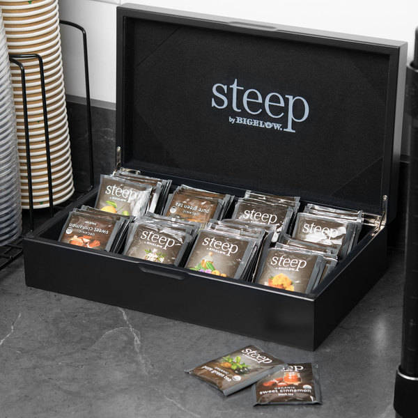 Steep by Bigelow Black Tea Chest with Assorted Organic Teas