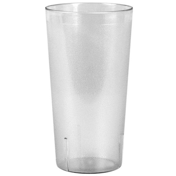 32 oz. Clear SAN Plastic Tall Pebbled Tumbler - 12/Pack Main Image 1