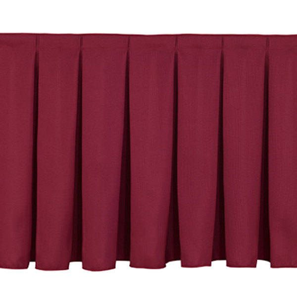 "National Public Seating SB16 Burgundy Box Stage Skirt for 16"" Stage"
