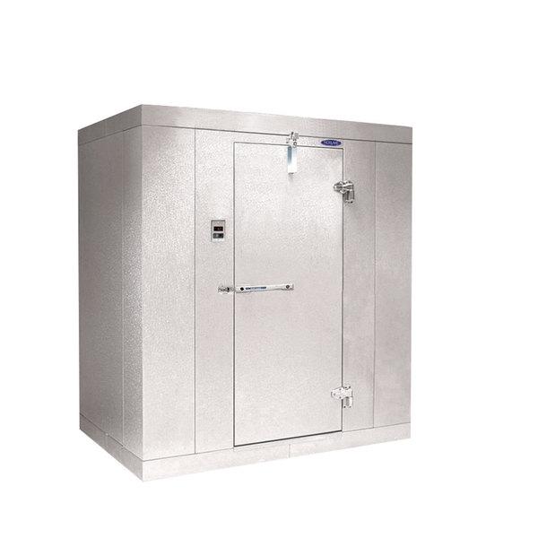 """Rt. Hinged Door Nor-Lake KL7766 Kold Locker 6' x 6' x 7' 7"""" Indoor Walk-In Cooler Box"""