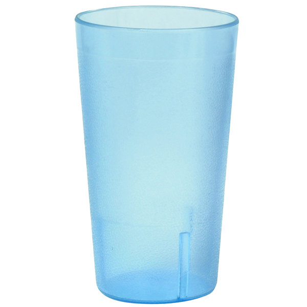 32 oz. Blue SAN Plastic Pebbled Tumbler - 12/Pack Main Image 1