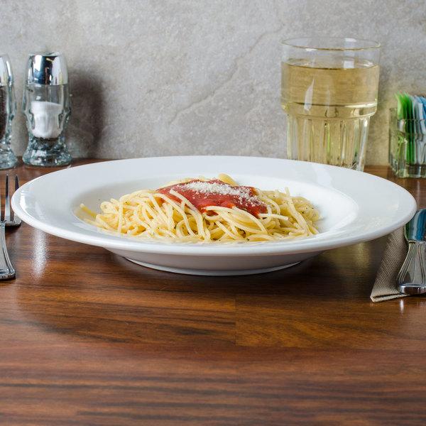 Homer Laughlin 6436000 Pristine Ameriwhite 18 oz. Bright White China Pasta Bowl - 12/Case