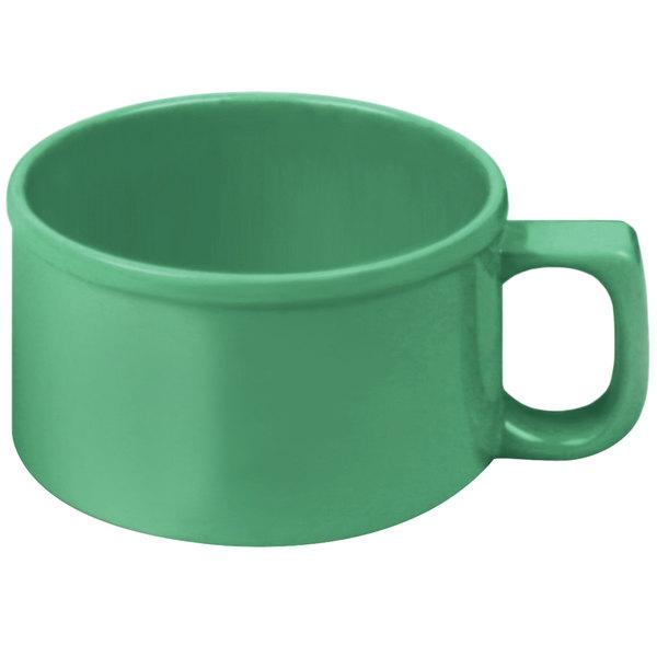 Thunder Group CR9016GR 10 oz. Green Melamine Soup Mug with Handle - 12/Pack Main Image 1