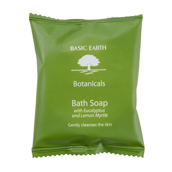 Basic Earth Botanicals Hotel and Motel Wrapped Bath Soap 1.41 oz. Bar - 300/Case