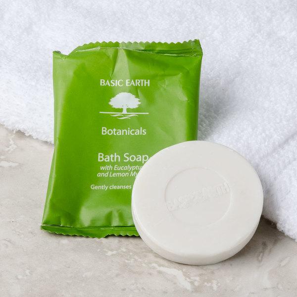 Basic Earth Botanicals Hotel and Motel Wrapped Bath Soap 1.41 oz. Bar - 300/Case Main Image 4