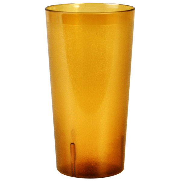 32 oz. Amber SAN Plastic Tall Pebbled Tumbler - 12/Pack Main Image 1
