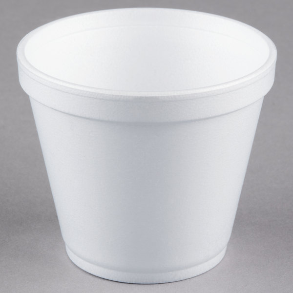 Dart 8sj12 8 Oz Customizable Squat White Foam Food Container 1000 Case