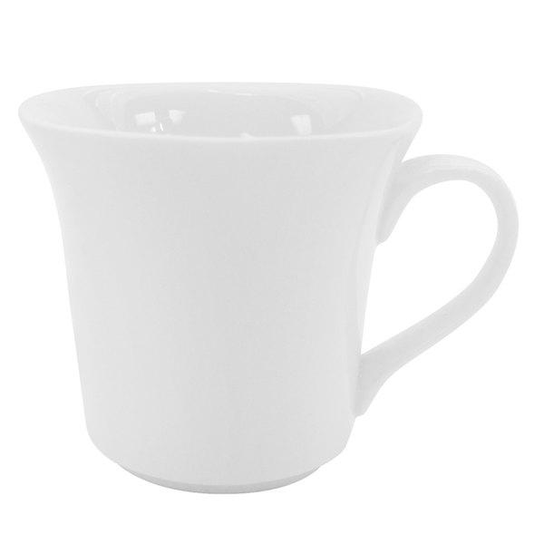 4.5 oz. Bright White Square Porcelain Cup - 36/Case