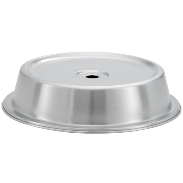 """Vollrath 62315 10 15/16"""" to 11"""" Satin Finish Stainless Steel Dome Plate Cover - 12/Pack Main Image 1"""