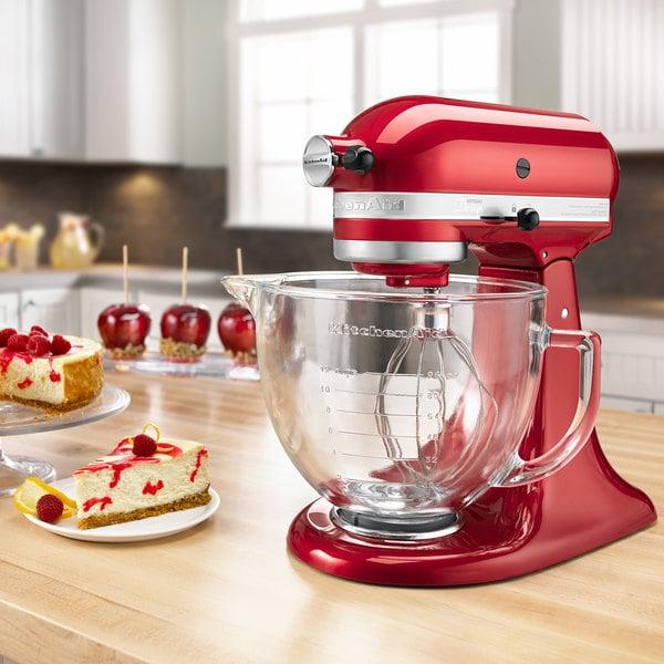 KitchenAid KSM155GBCA Candy Apple Red Premium Metallic Series 5 Qt. Countertop Mixer