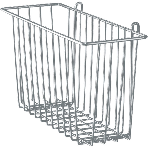 "Metro H210-DSH Silver Hammertone Storage Basket for Wire Shelving 17 3/8"" x 7 1/2"" x 5"""