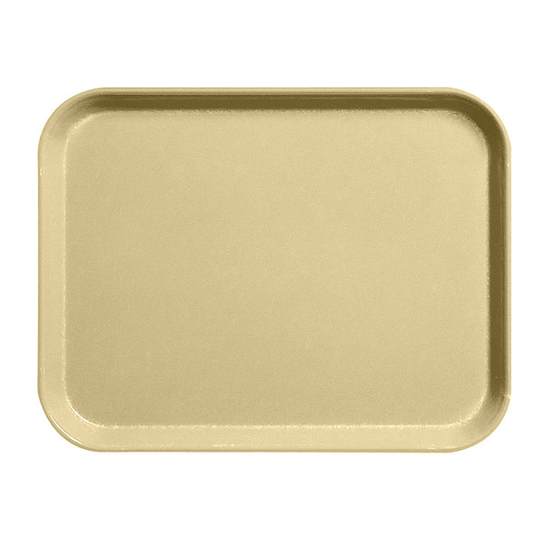 "Cambro 1216CL161 12"" x 16"" Tan Camlite Tray - 12/Case"