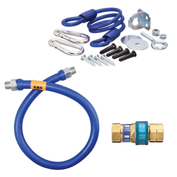 "Dormont 16125BPQR48 SnapFast® 48"" Gas Connector Kit with Restraining Cable - 1 1/4"" Diameter"