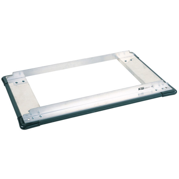 """Metro D2448SP Stainless Steel Truck Dolly Frame with Wraparound Bumper 24"""" x 48"""" Main Image 1"""