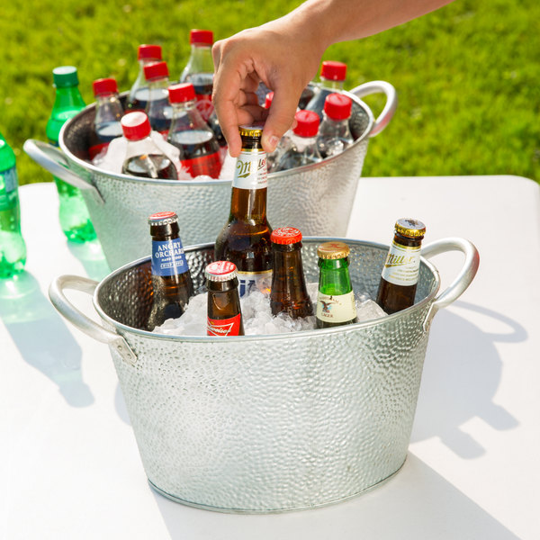 natural beverage handles guides tub find with cooler galvanized drink american metalcraft side shopping cheap