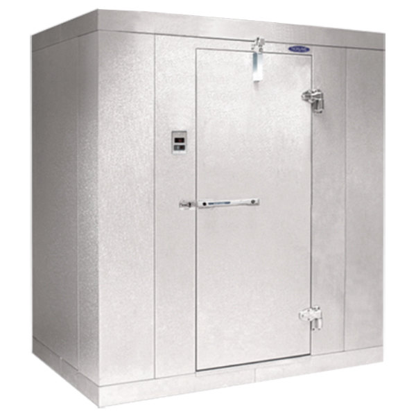 """Right Hinged Door Nor-Lake KL84612 Kold Locker 6' x 12' x 8' 4"""" Floorless Indoor Walk-In Cooler Box"""