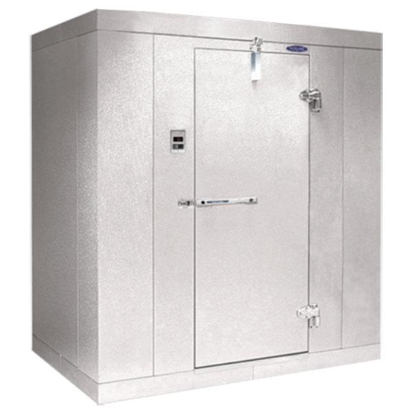 """Right Hinged Door Nor-Lake KL8488 Kold Locker 8' x 8' x 8' 4"""" Floorless Indoor Walk-In Cooler Box"""