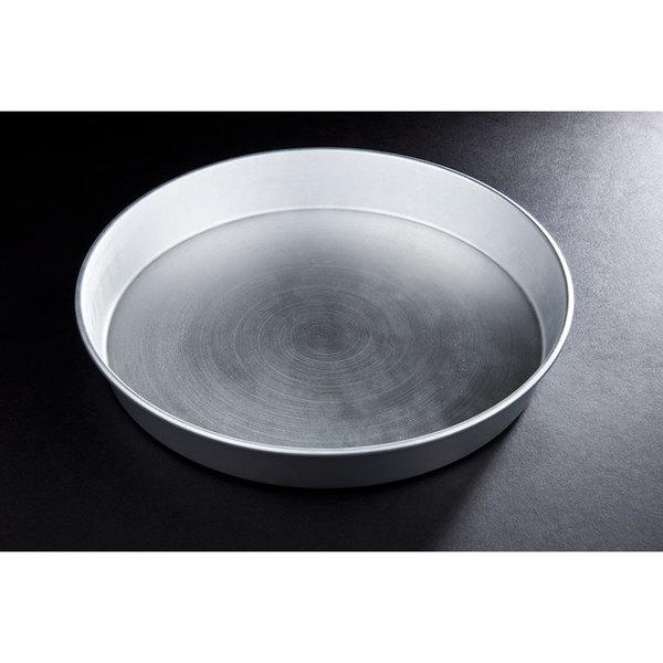 "14"" x 2"" Tapered Aluminum Deep Dish Pizza Pan"